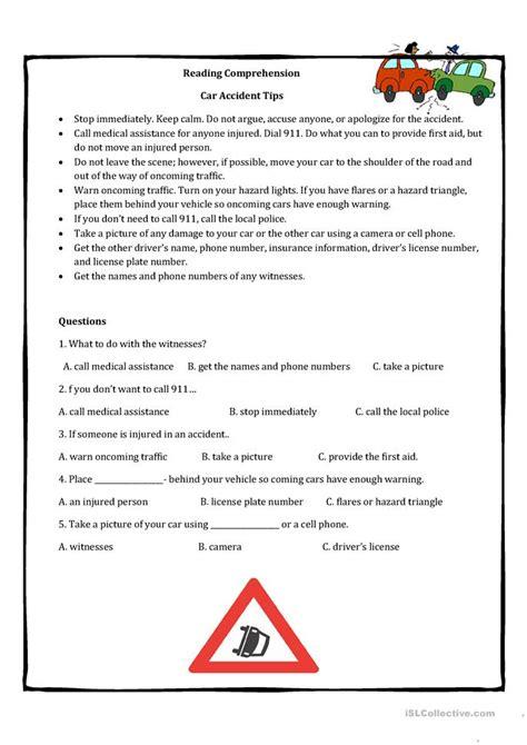 science comprehension worksheets high school esl pre