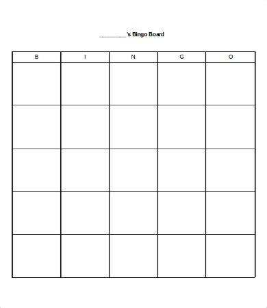 blank bingo template bingo card template 8 free word pdf vector format free premium templates