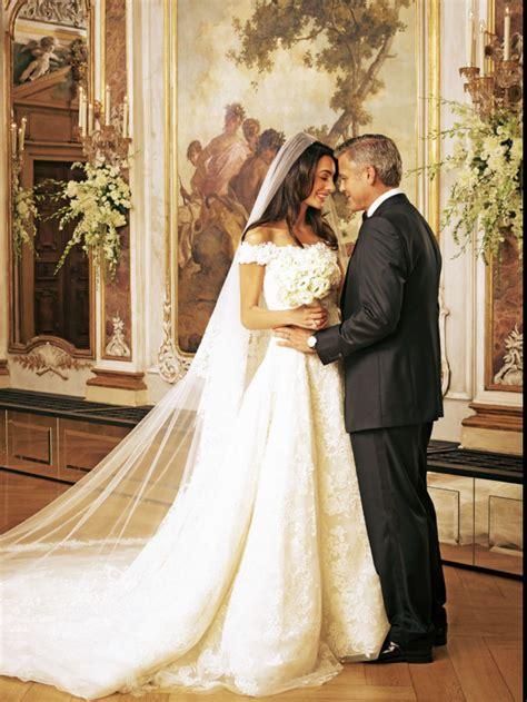 amal alamuddins wedding dress  amal effect amal