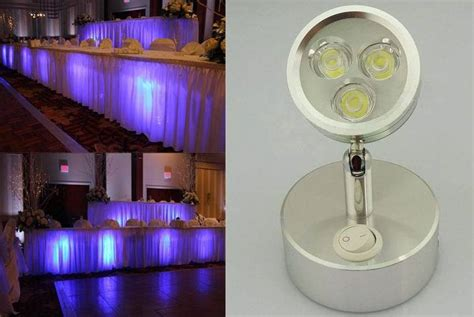battery power cordless led up light for wedding events