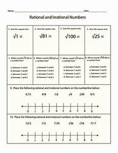 Irrational Numbers Worksheet 8 Ns 1  U0026 8 Ns 2 By Kara