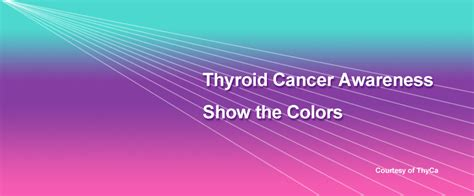 color for thyroid cancer graphics for and awareness messages thyca