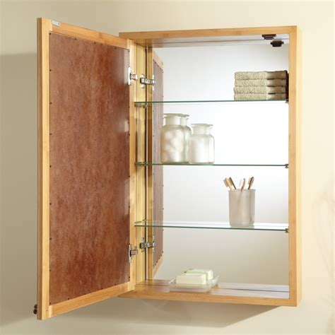 Bamboo Wall Cabinet, Recessed Wall Cabinet Bathroom