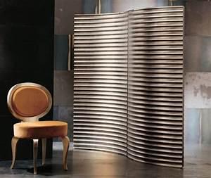 Paravent design en tant que diviseur de piece et decoration for Salle de bain design avec paravent décoratif intérieur