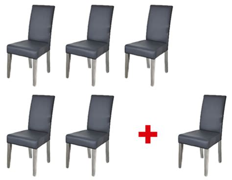 but chaise de salle a manger lot de 5 chaises 1 offerte namur gris