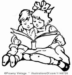 Child Reading Clipart Black And White | Clipart Panda ...