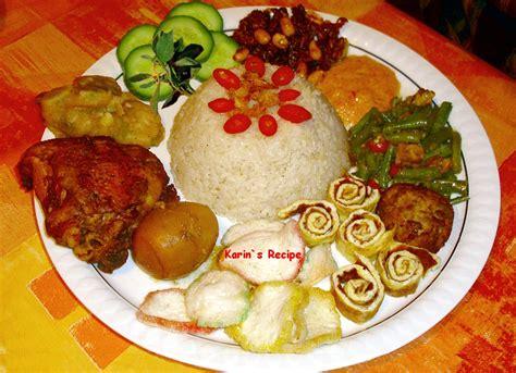 karins recipe nasi uduk indonesian scented coconut milk