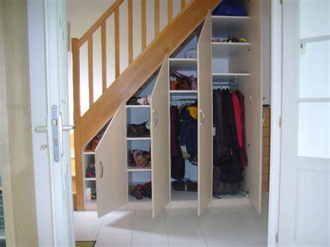 armoire rangement bureau placards sous escalier la boutique du placard