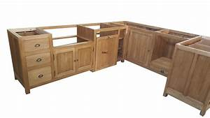 Cuisine En Bois Brut : meuble de cuisine en bois brut mobilier design d coration d 39 int rieur ~ Teatrodelosmanantiales.com Idées de Décoration
