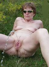 The granny mature outdoor