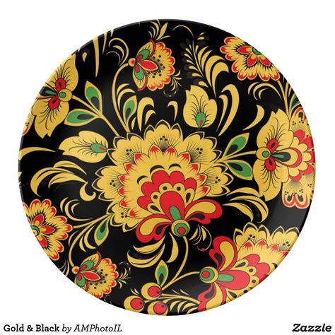 gold black dinner plate zazzlecom black dinner plates plates plate decor
