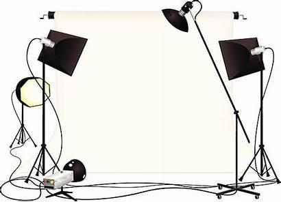 Studio Vector Equipment Lighting Illustration Clip Camera