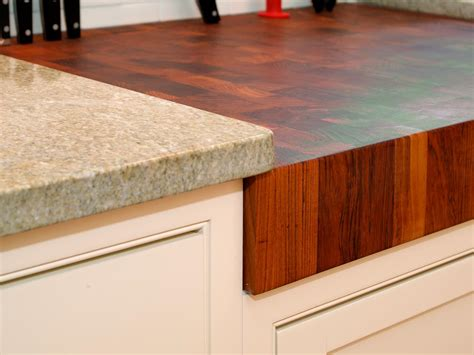 Marble And Butcher Block Countertops by Choosing Kitchen Countertops Hgtv