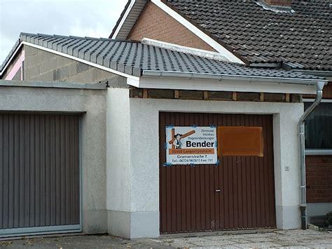 Anbau Garage by Um Und Anbau Bender Holzbau