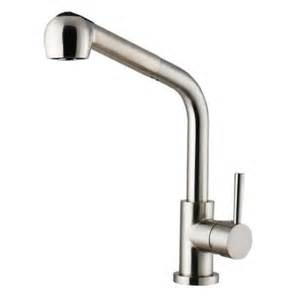 stainless steel pull kitchen faucet vigo single handle pull out sprayer kitchen faucet in stainless steel vg02019st the home depot