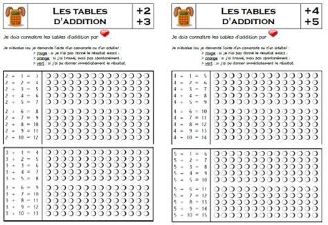 table d addition jeux autonomie tables and multiplication