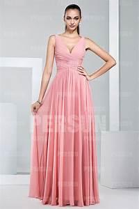 robe longue fluide pour demoiselle dhonneur en mousseline With robe mousseline longue