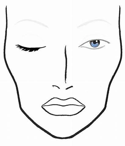 Face Blank Charts Mac Makeup Chart Eye