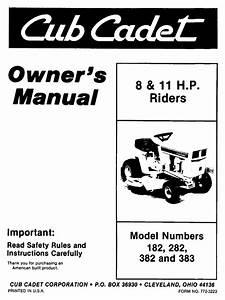 Cub Cadet 282h Lawn Mower User Manual