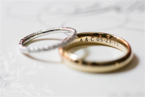 wedding rings with initials and date engraving wedding words wedding wedding rings groom ring