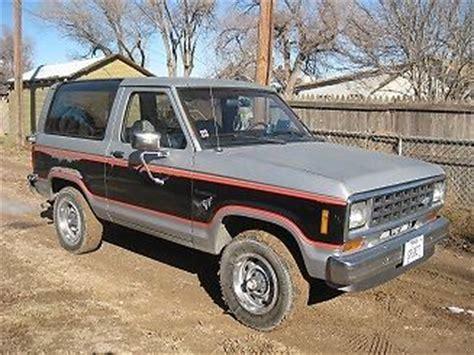auto manual repair 1985 ford bronco ii regenerative braking purchase used 1985 ford bronco ii in spearman texas united states