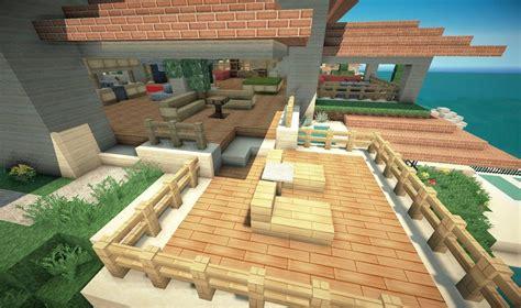 minecraft beach house deck minecraft ideas pinterest
