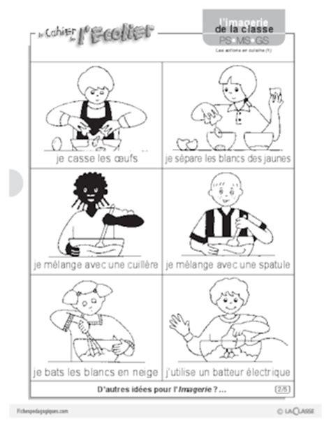 verbe de cuisine imagerie les actions en cuisine 1 fichespédagogiques com