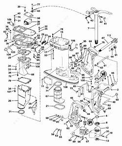 Johnson 1986 140 - J140tlcdc  Midsection
