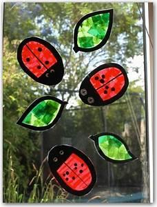 Basteln Sommer Grundschule : ladybug suncatchers zuk nftige projekte ~ Frokenaadalensverden.com Haus und Dekorationen
