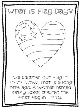 flag day reading writing  coloring activities