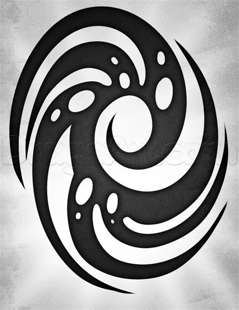 How to Draw a Spiral Tattoo, Step by Step, Tattoos, Pop Culture, FREE Online Drawing Tutorial