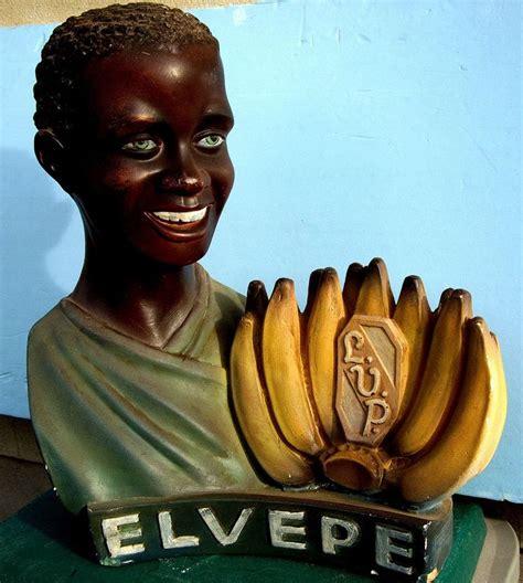 publicité cuisine superbe statue publicité elvepe homme noir bananes