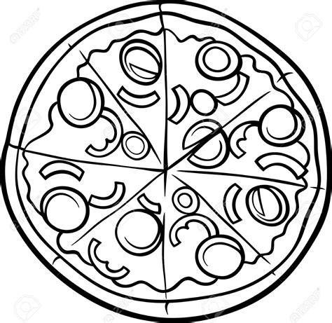 pizza clipart black and white pizza clipart line drawing pencil and in color pizza