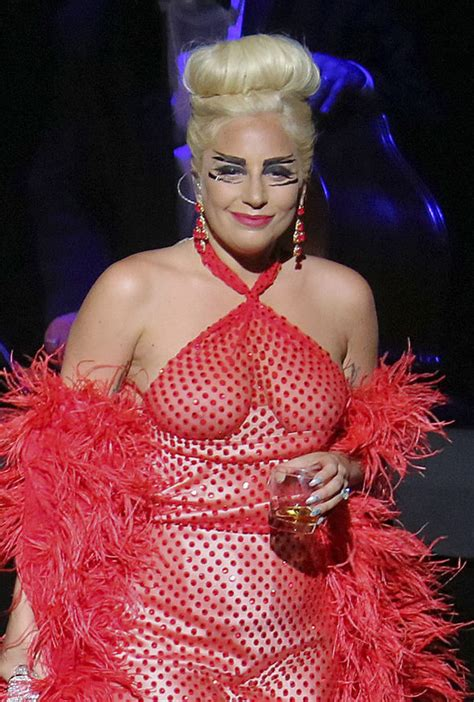 Lady Gaga goes braless for Vancouver jazz festival ...