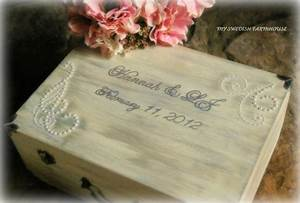 wedding card box shabby chic rustic love letter wine With love letter ceremony box