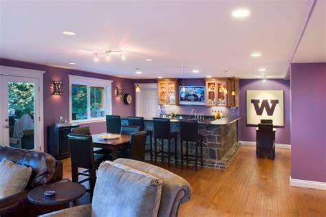 home sports bar contemporary basement seattle
