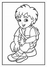 Coloring Diego Pages Dora Printable Cartoon Print Printables Coloringonly Baby sketch template