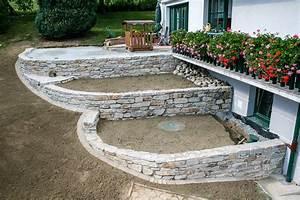 Natursteinmauern Im Garten : natursteinmauer steinmauer b schungsgestaltung bieler christian 2 ~ Markanthonyermac.com Haus und Dekorationen