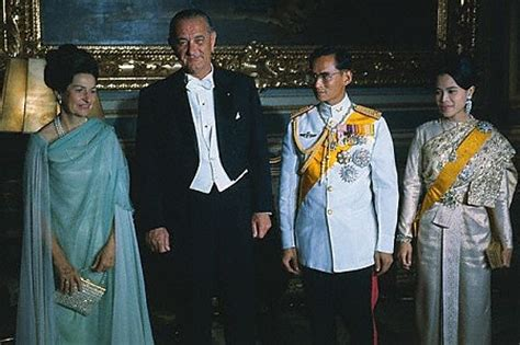 president lyndon  johnsons visit  thailand richard