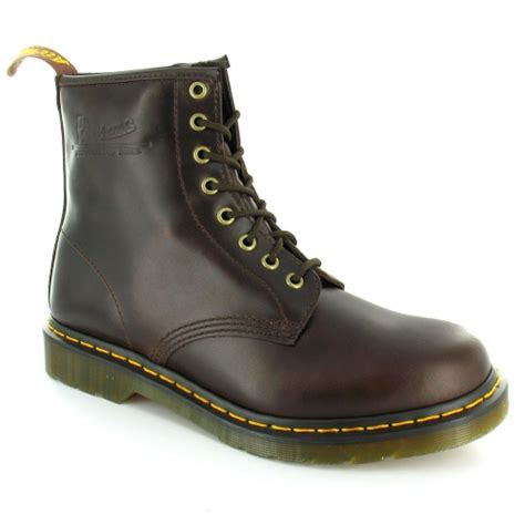 dr martens 1460 mens modern classics quality zenith leather boots brown casual boots