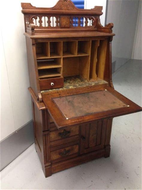 small cherry secretary desk renaissance revival or eastlake secretary walnut or