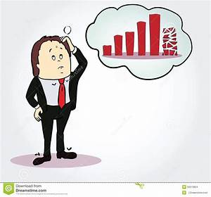 Businessman And Diagram Cartoon Character  Person Stock