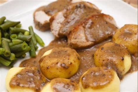cuisine polonaise recette de kluski et rôti de porc facile et rapide