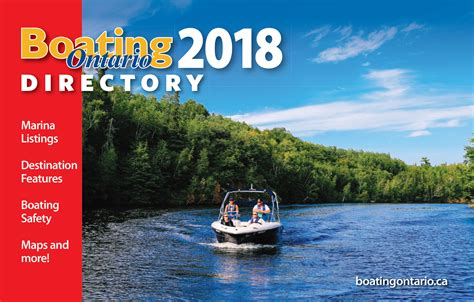 Boating Safety Ontario Canada by 2018 Boating Ontario Directory Powerboating