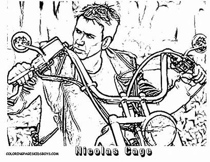 Coloring Cage Nicolas Star Pages Colouring Film