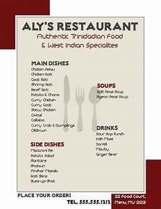 Menu Template Free Word Openoffice Draw 4 0 Restaurant Flyer Tutorial Learn How