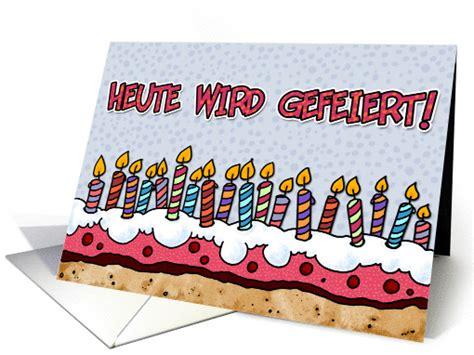 heute wird gefeiert german birthday card
