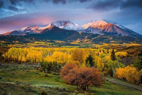 united states state colorado autumn mountain mount sopris
