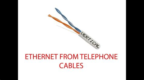Converting Home Telephone Wiring Ethernet Youtube