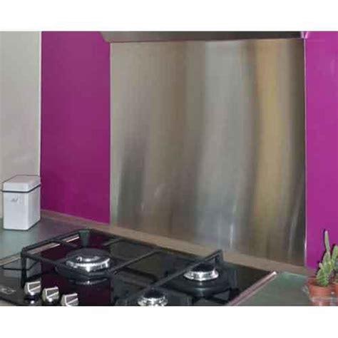 plaque en inox cuisine crédence en inox 90 x 75 cm plaque inox 1 mm crédence